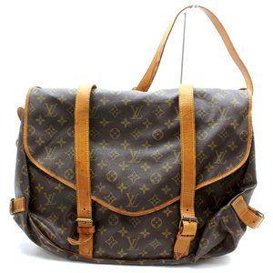 Auth Louis Vuitton Saumur 43 Crossbody #3369L22